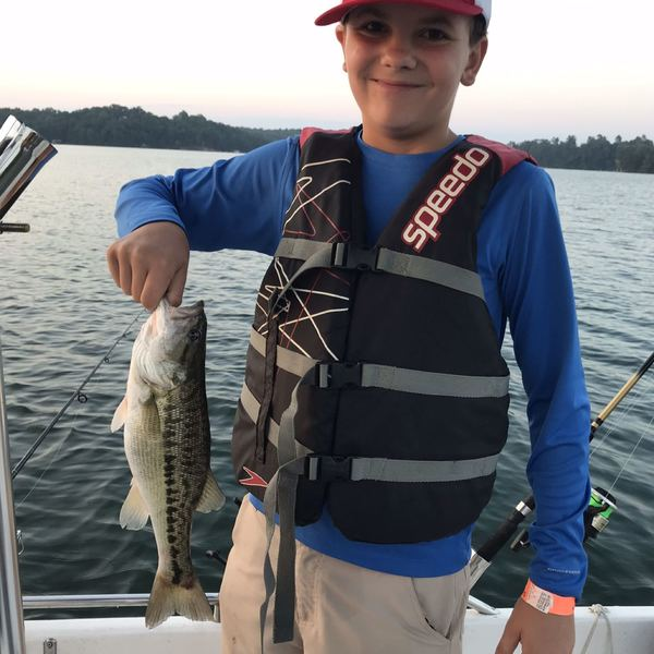 Spotted bass caught by Mickey Holbrook
