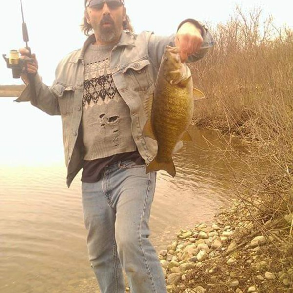 Smallmouth bass caught by Eric Chilton