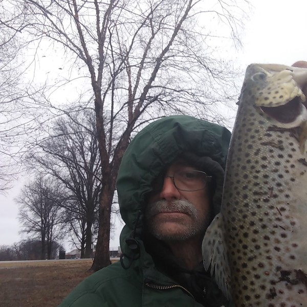 1.63 lbs Brown trout caught by mike piekarski