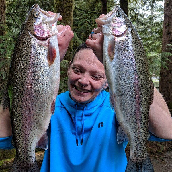 Rainbow trout caught by Jesse Stone