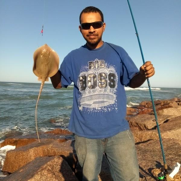 2 lbs Southern stingray caught by Mateo Silva