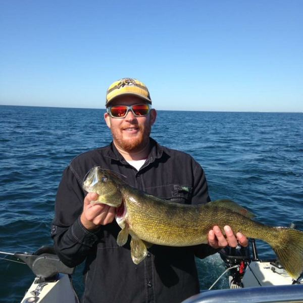 9.5 lbs Walleye caught by Chris Torelli