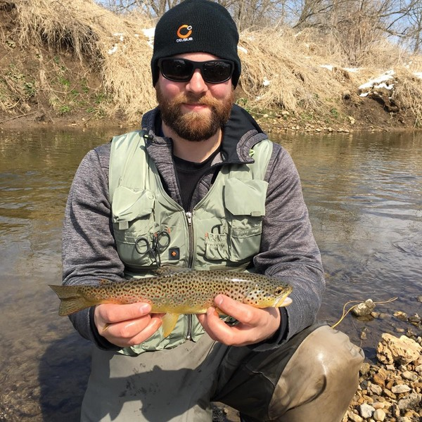 12 in Brown trout caught by Anthony Barta