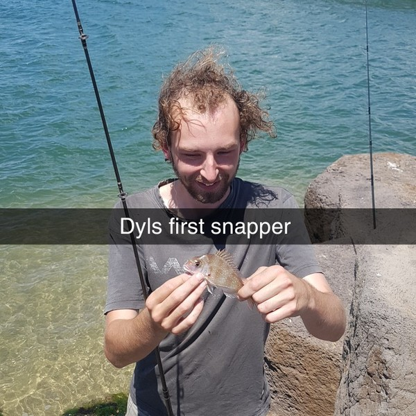 1 lbs / 5 in Australasian snapper caught by Barefoot Hunting 'n' Fishing