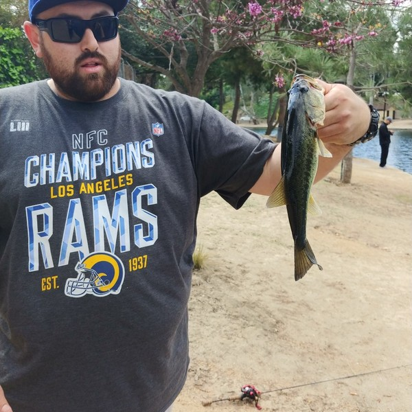 1.22 lbs / 8 in Largemouth bass caught by Eliseo Navar