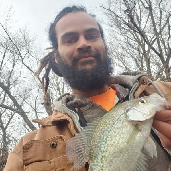 0.25 lbs Black crappie caught by Eddie Young