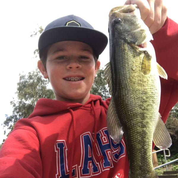 Largemouth bass caught by Carson Ball